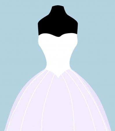 formal clothes: wedding dress
