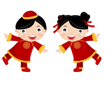 chinois: _children Nouvel An, la Chine Illustration