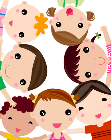 asian student: Group of children