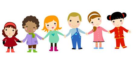 groep van gelukkige kinderen