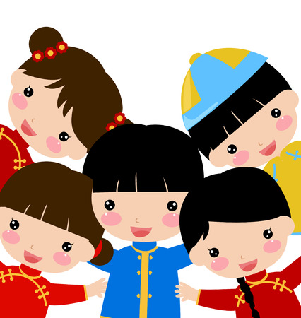 ew Year _children,chinese Stock Vector - 24199167
