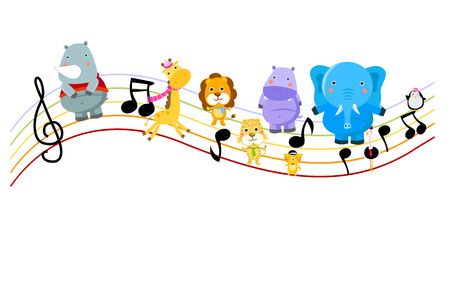 Music And Animal Stock Vector Vector
