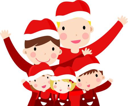 Familia feliz en Navidad Foto de archivo - 31023006