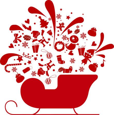 christmas sleigh: Sledge Illustration