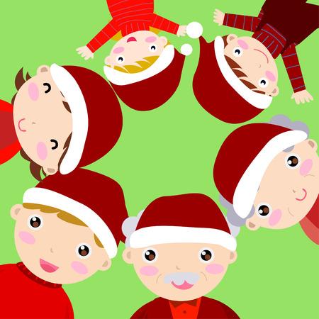 Family-Christmas Vector