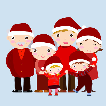 happy family at christmas Vector