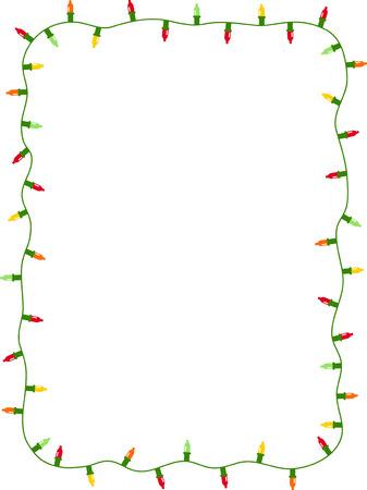 kerst interieur: Kerstmis licht Stock Illustratie