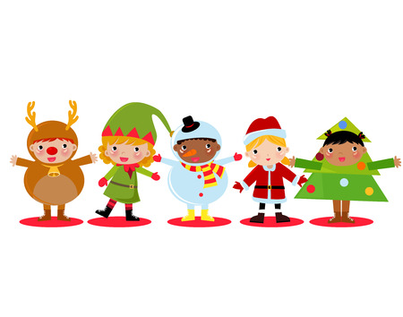 Christmas children Vector