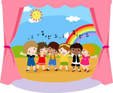 La chanteuse enfants Banque d'images - 30668361