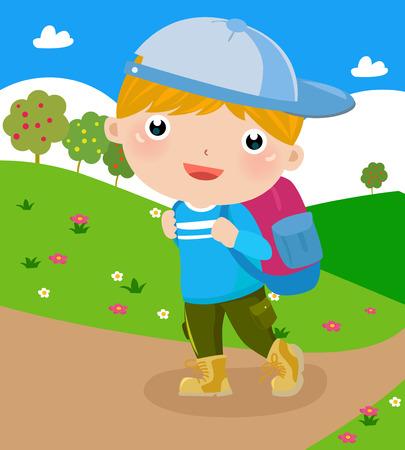 boy with bag
