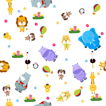 Animals seamless background Vector