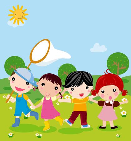 sweet grass: Group of children