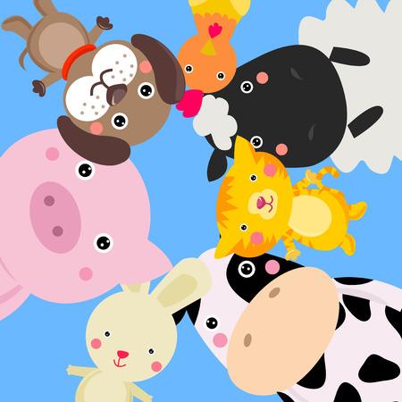 cerdo caricatura: animales de granja