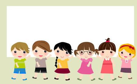 Les enfants et le cadre Banque d'images - 35004811