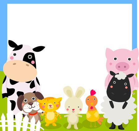 農場の動物とフレーム