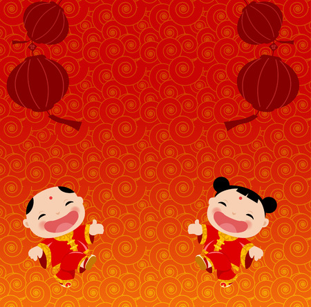 Chinese New Year Greetings Vector