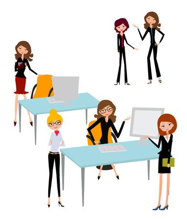 businesswomen: businesswomen working