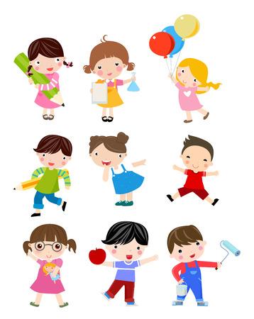 paiting: Group of children