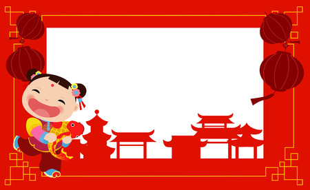 New Year Greetings_Chinese girl