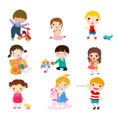 children playing with toys: Children playing toys