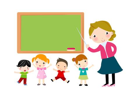 teacher student: profesor y los estudiantes Vectores