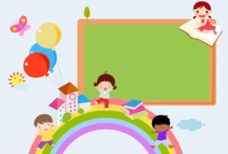 playmates: Niños y arco iris