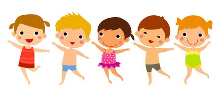 enfant maillot de bain: enfants drôles