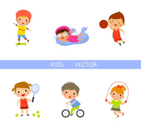 skipping: Kids vector