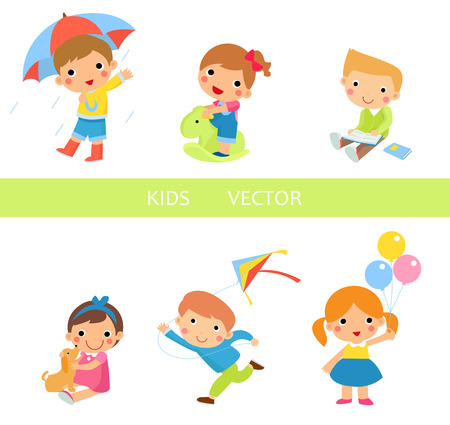 schoolchildren: Kids  Illustration