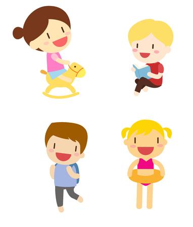 niño escuela: Grupo de niños jugando