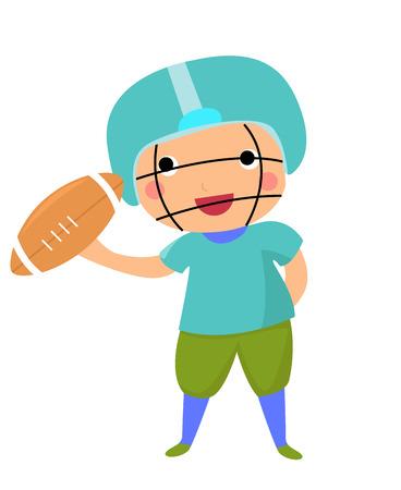 American football player Ilustração