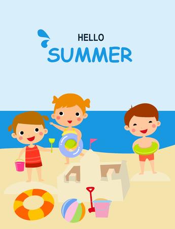 Beach Kids illustration