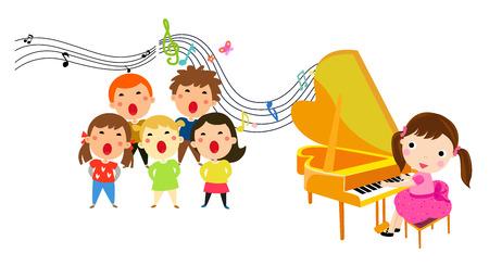 The children of the music presentation