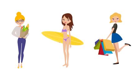 enfant maillot de bain: Mode filles Illustration