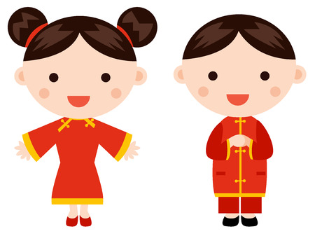 Chinese New Year Greetings - Children Royalty Free Cliparts, Vectors ...