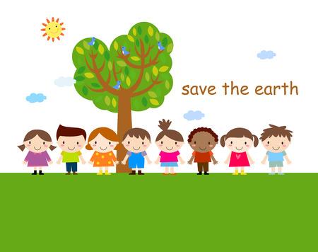 Happy children Ilustração