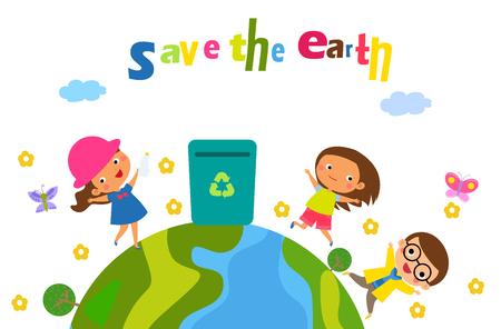 Red de aarde Vector Illustratie