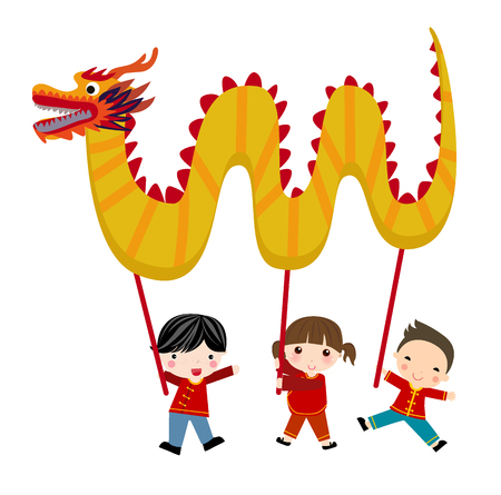 chinese new year dragon: Chinese new year festival - Dragon dance