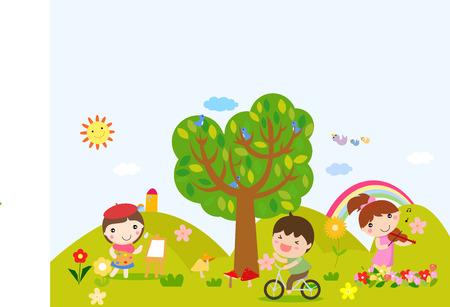 Happy children Illustration