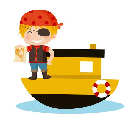 pirates boy Ilustração