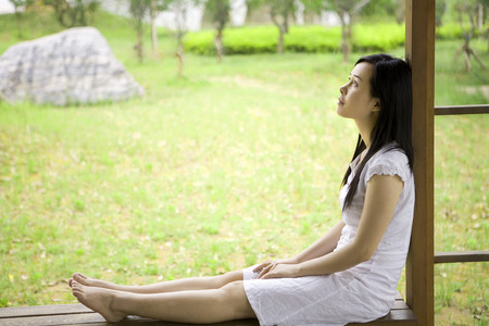 desires 25: Girl sitting on the ground