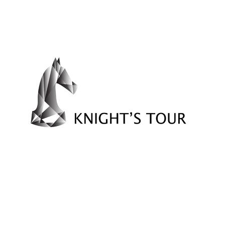 chess knight: Elegante caballo de ajedrez de estilo cubista Vectores