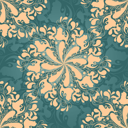 cor: Intricate seamless background with flower motif