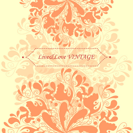 numerous: Beautiful pastel template with numerous floral elements