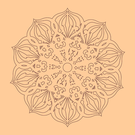 Beautiful outlined oriental ornament