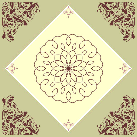 Beautiful kitchen tile with an intricate vignette Vector
