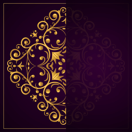 copyspace: Beautiful purple template with a luxurious motif and a copy-space area Illustration