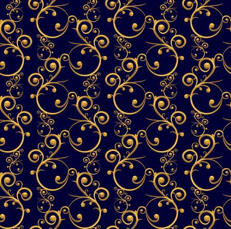 luxo: Luxuoso padrão uniforme, com belos elementos decorativos