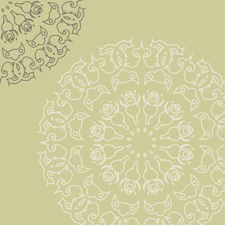 Intricate template with elegant lacy elements Vector