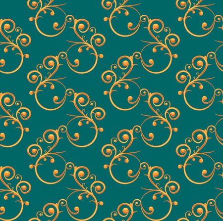 lux: Luxurious pattern with seamless golden elements Illustration